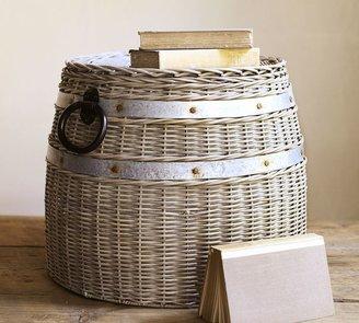 Pottery Barn Cask Lidded Basket