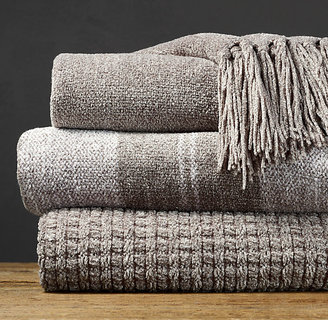 Restoration Hardware Chenille Throws - Fog