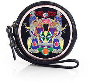Mary Katrantzou Butterfly-Embroidered Wristlet