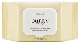 Philosophy 'Purity Made Simple' One-Step Facial Cleansing Cloths $15 thestylecure.com