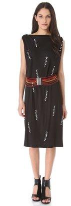 David Szeto Rossodo Sleeveless Draped Dress
