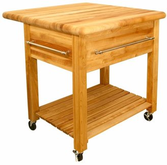 Catskill Craft Grand Workcenter Kitchen Cart With Drop Leaf