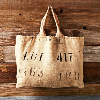 Williams-Sonoma Reversible Burlap Tote