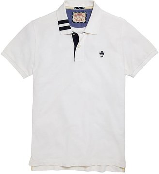 Brooks Brothers Solid Two-Stripe Collar Polo