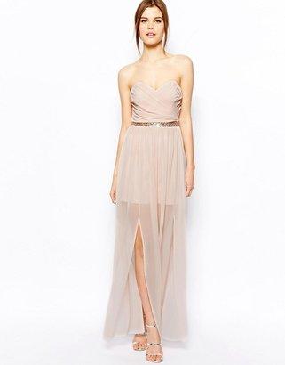 Asos Maxi Dress With Embellished Waistband