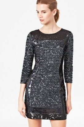 French Connection Sequin Striped Tunic Dress