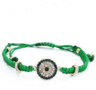 Style Tryst Macrame and Crystal Evil Eye Bracelet