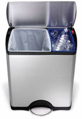 Simplehuman 46-Liter Rectangular Step Garbage & Recycling Can