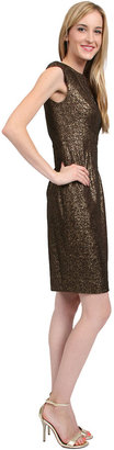 Kay Unger New York Bonded Lace Dress in Cocoa