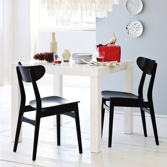 west elm Parsons Square Dining Table - White