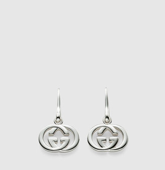 Gucci earrings with interlocking G pendant