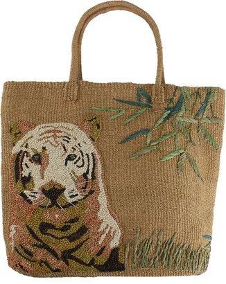 Aba'ca NADA SAWAYA Large Abaca Tiger Beach Bag