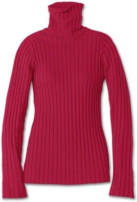 Athleta Organic Cotton Rib T Neck Sweater