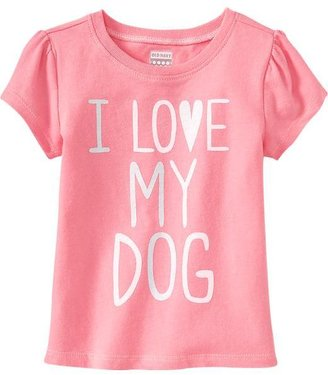 """Old Navy """"I ♥ My Dog"""" Tees for Baby"""