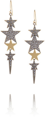 Emilio Pucci Crystal-embellished star earrings