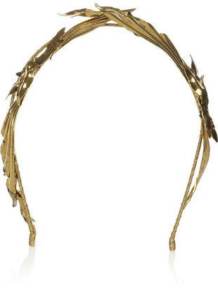 Jennifer Behr Pegasus gold-tone headband