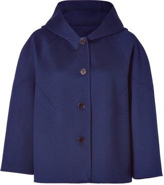 Jil Sander Blue Stone Hooded A-Line Jacket