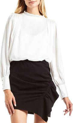 Secret Mission Savona Long-Sleeve Silk Blouse