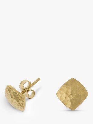 Dower & Hall 18ct Vermeil Flat Square Stud Earrings
