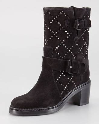 Casadei Low-Heel Crystal Ankle Boot