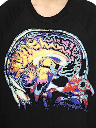 Christopher Kane Brain Printed Cotton Fleece Sweatshirt