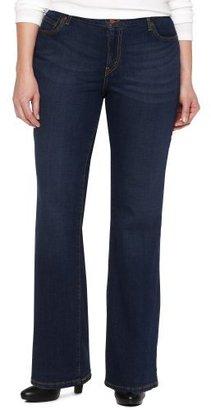 Levi's Women's 590 Plus-Size Full Waist Boot Cut Jean, Denim Belief, 16 Short
