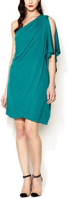 Mark & James by Badgley Mischka Jersey One Shoulder Draped Dress