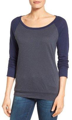Petite Women's Caslon Lightweight Colorblock Cotton Tee $29 thestylecure.com
