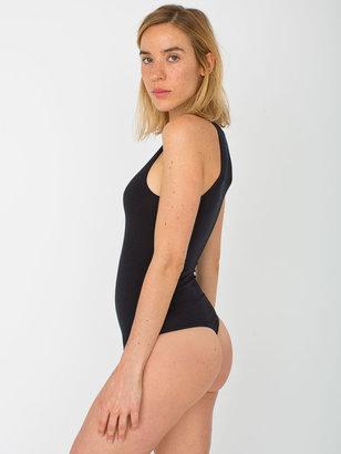 American Apparel Cotton Spandex Sleeveless Thong Bodysuit
