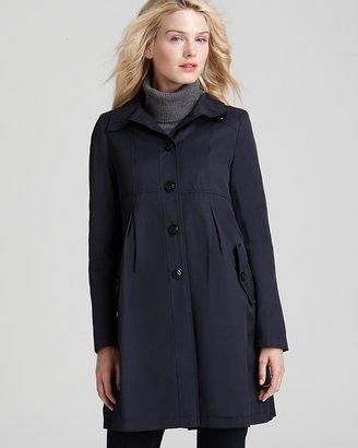 DKNY Empire Waist Hooded Coat