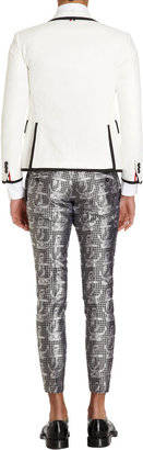 Thom Browne Gingham-and-anchor Jacquard Trousers