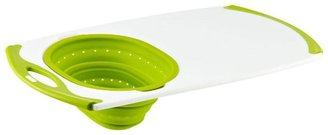 Container Store Oversink Strainer Board Green Silicone