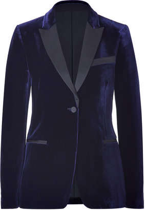 Valentino Night Blue/Black Velvet Tuxedo Blazer