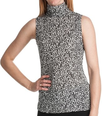 Paperwhite Printed Shirt - Sleeveless (For Women)