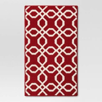 Threshold Trellis Scatter Washable Rug