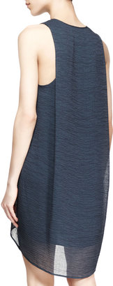 Helmut Lang Breeze Sleeveless V-Neck Dress