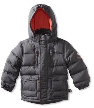Hawke & Co Boy's Down Bubble Jacket, New Charcoal, 8