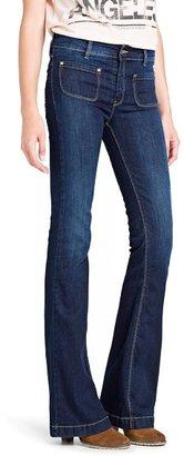MANGO Dark wash flared jeans
