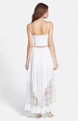 Jarlo 'Bell' Lace & Mesh Inset Maxi Dress