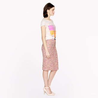 J.Crew Collection No. 2 pencil skirt in Ratti candy tweed