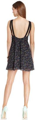 BCBGeneration Dress, Sleeveless V-Neck Printed A-Line