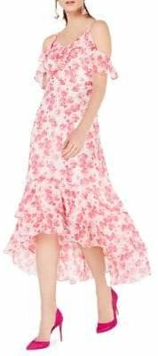 d279ea04f701 INC International Concepts Floral Cold Shoulder Dress