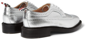Thom Browne Metallic Leather Longwing Brogues