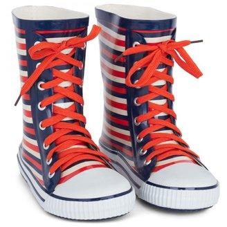 Little Marc Jacobs Orange Stripe Wellington Boots
