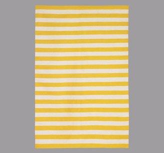 DwellStudio Draper Stripe Citrine/Cream Rug 5x8