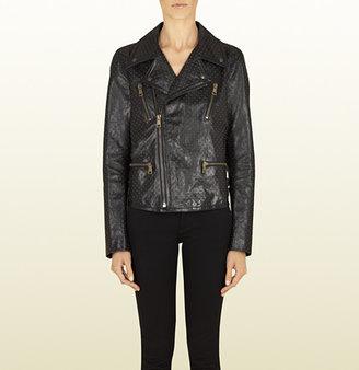 Gucci Studded Leather Biker Jacket