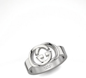 Gucci Sterling Silver Double G Ring