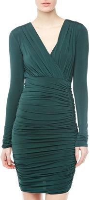 BCBGMAXAZRIA Jersey Wrap Dress, Fern