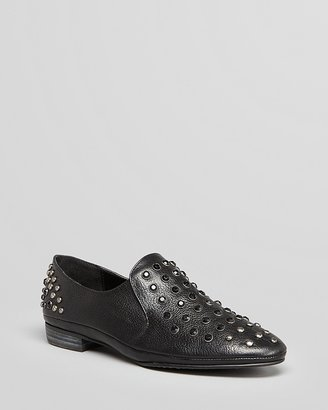 Luxury Rebel Slip On Oxford Flats - Prep Studded