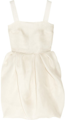Lanvin - Bubble-skirt Silk-gazar Dress - Off-white $4,350 thestylecure.com